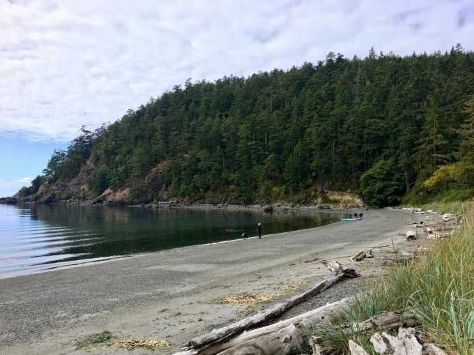Bowman Beach in Deception Pass State Park, Washington