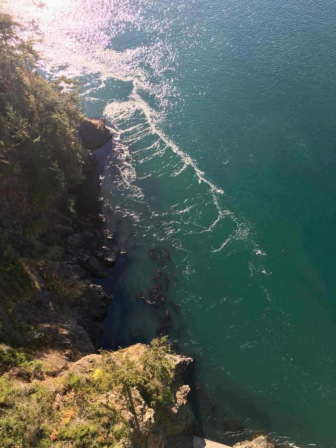 177 feet down to the water - Deception Pass Bridge, State Park Washington