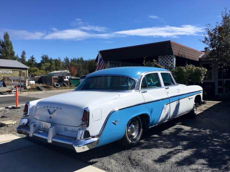 Classic car in Friday Harbor Washington
