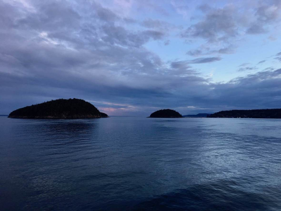 Last light, San Juan Islands