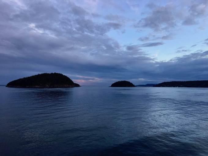 Last light, San Juan Islands