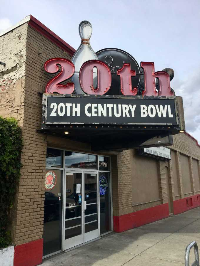 20th Century Bowl bowling alley in downtown Bellingham, Washington