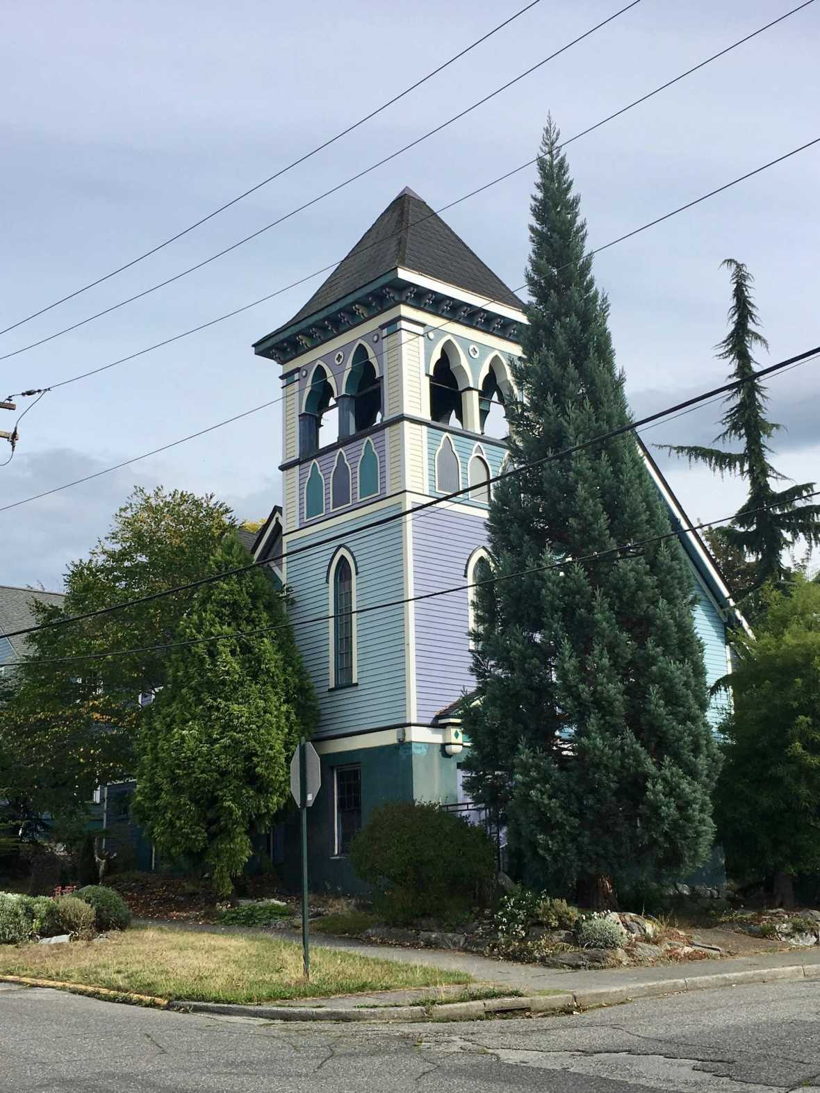 Colorful historic Bellingham, Washington church