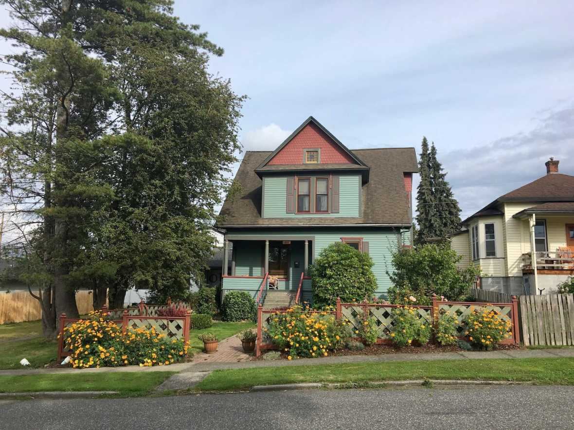 Colorful historic Bellingham, Washington homes