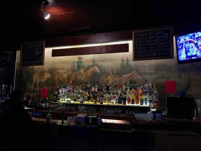 Mural at the Ranch Room bar at Horseshoe Cafe in Bellingham, Washington