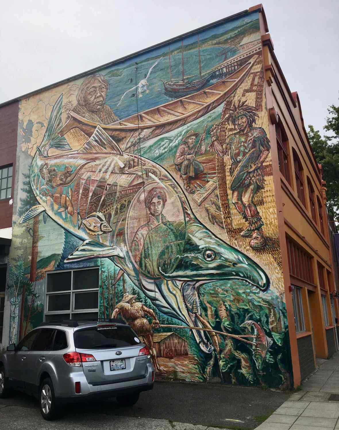 Awesome downtown Bellingham, Washington mural