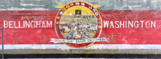 Ye Olde City of Subdued Excitement Mural in Bellingham Washington