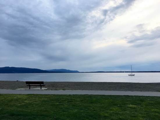 Looking out at Bellingham Bay from Boulevard Park, Washington