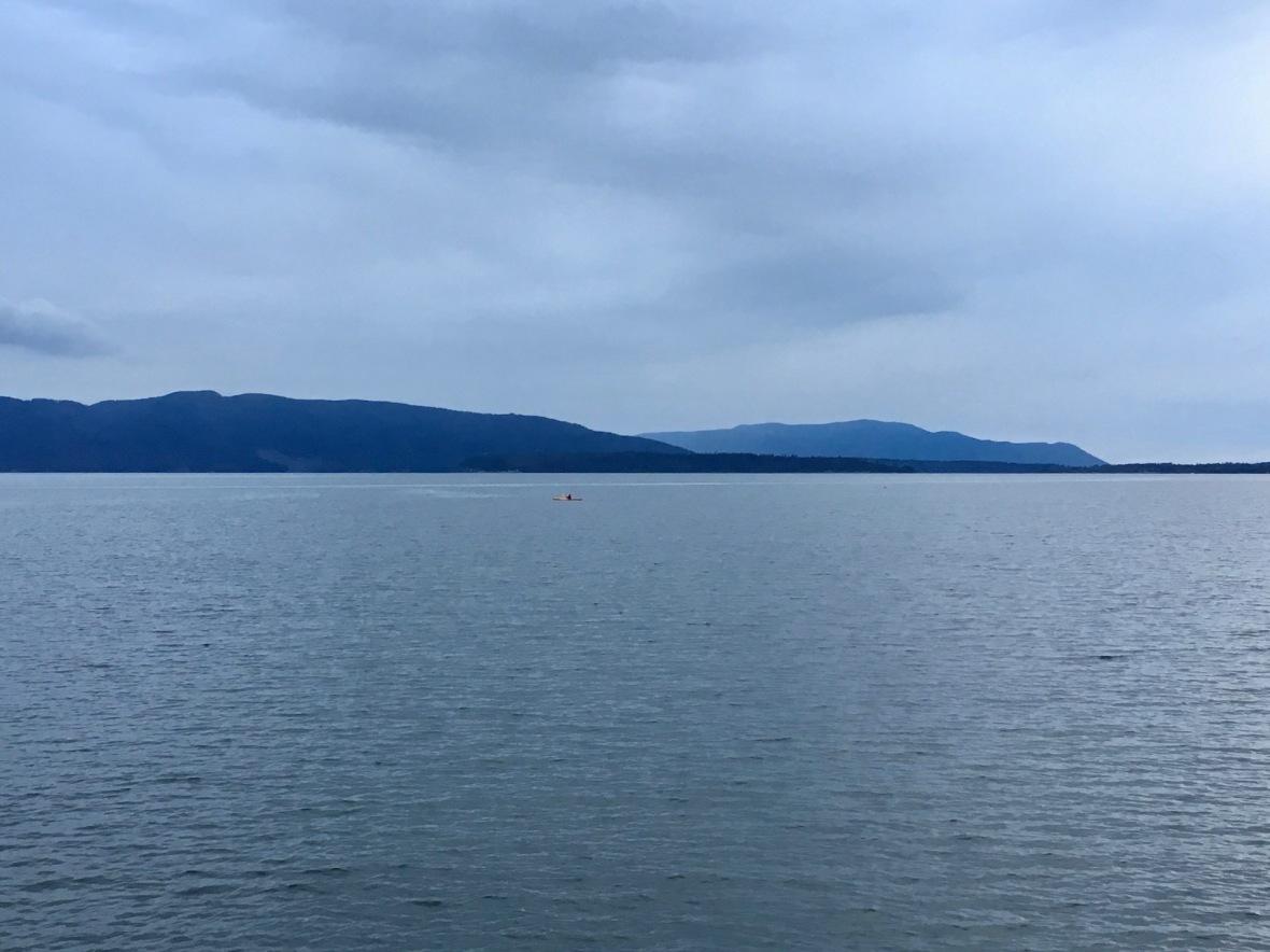 Kayaker in Bellingham Bay