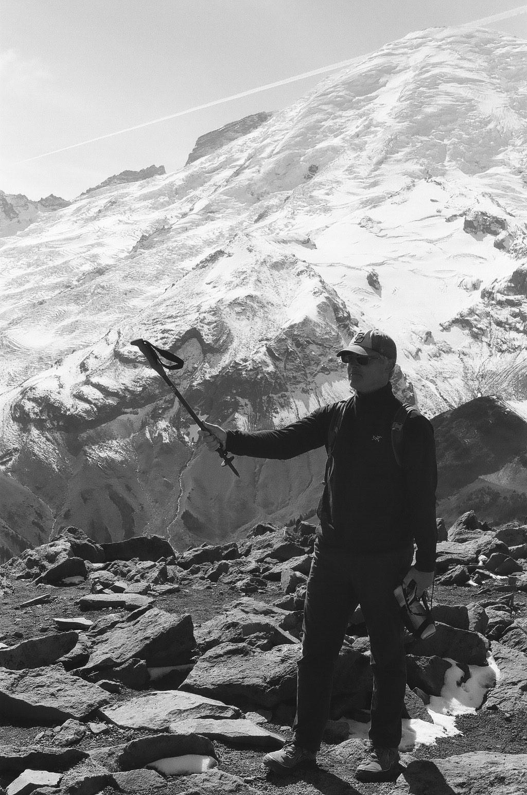 35mm film photography Tri-X 400 Nikon F2 - Atop 3rd Burroughs Peak Mount Rainier National Park