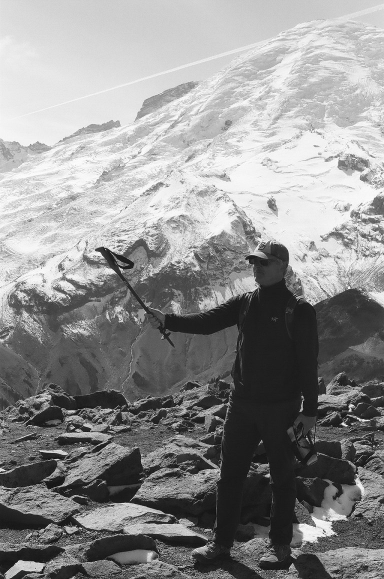 35mm film photography Tri-X 400 Nikon F2 - Atop 3rd Burroughs Peak Mount Rainier National Park