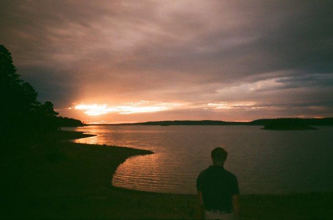Sunrise on DeGray Lake in Arkansas,, shot on Vivitar PS55s point-and-shoot film camera