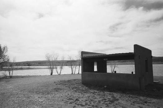 Picnic Pavilion at Storrie Lake State Park in Las Vegas, New Mexico 35mm film photograph shot on Kodak Tri-X 400 with Nikon F2