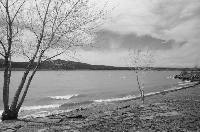 Storrie Lake State Park in Las Vegas, New Mexico 35mm film photograph shot on Kodak Tri-X 400 with Nikon F2