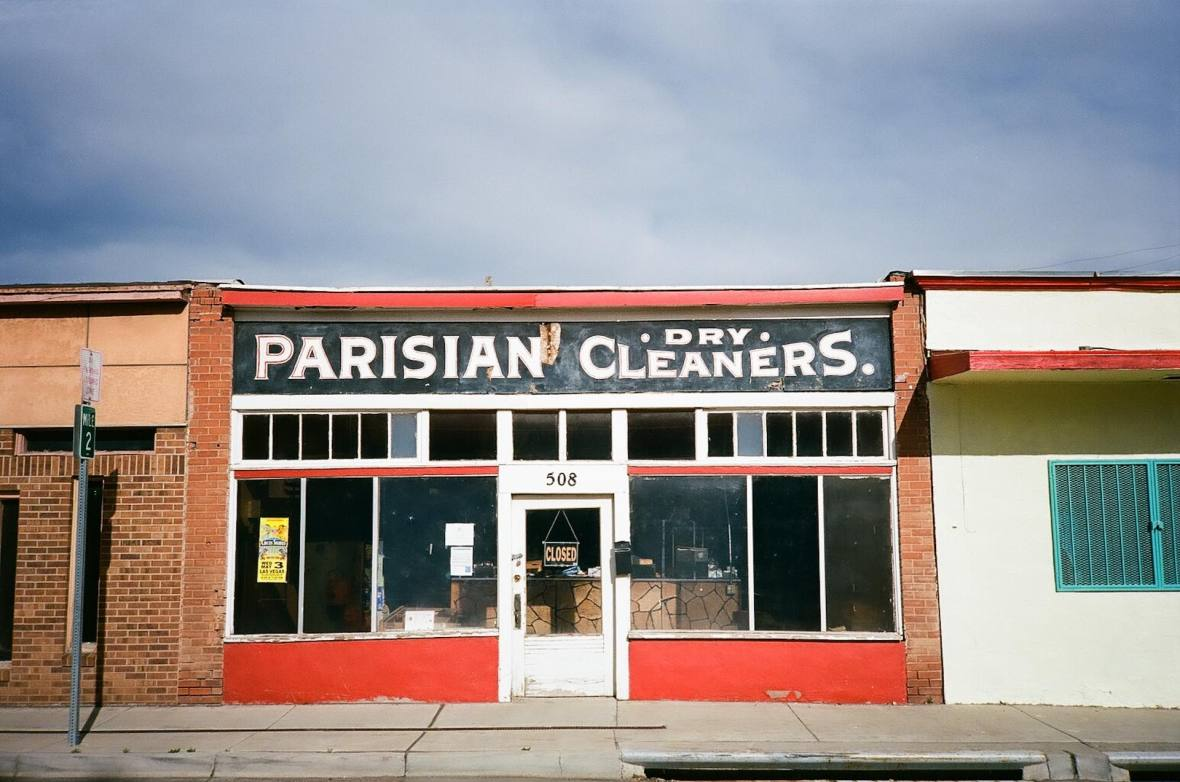 Parisian Dry Cleaners in Las Vegas, New Mexico 35mm Film Photography
