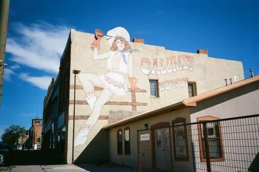 Calumet Mural painted for Red Dawn Set in Las Vegas, New Mexico 35mm Film Photography Nikon L35AF Kodak Ektar 100