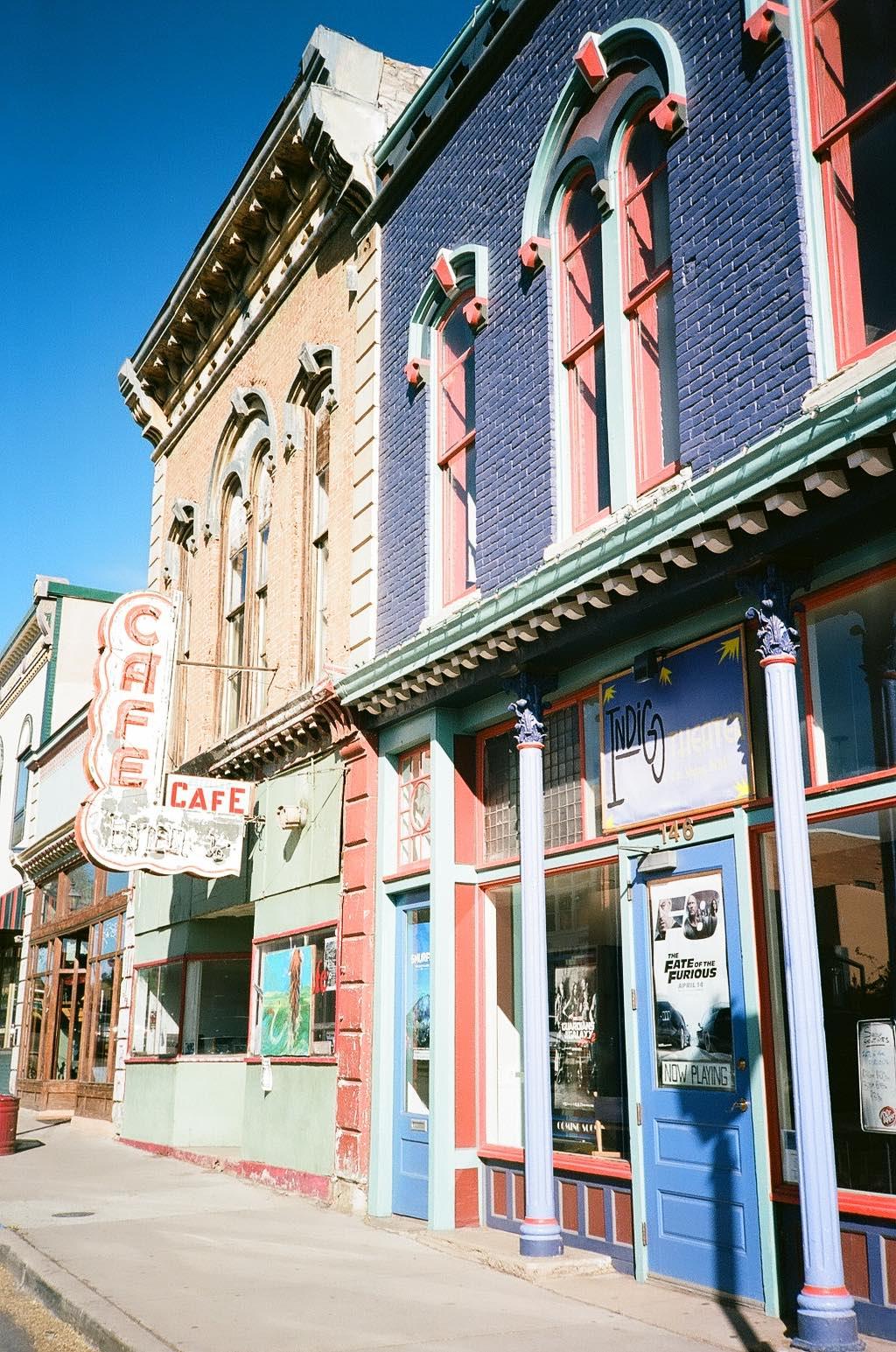 Colorful historic downtown Las Vegas, New Mexico 35mm Film Photography Nikon L35AF Kodak Ektar 100