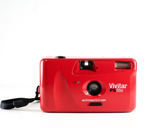 Red Vivitar PS55s 35mm Film Camera