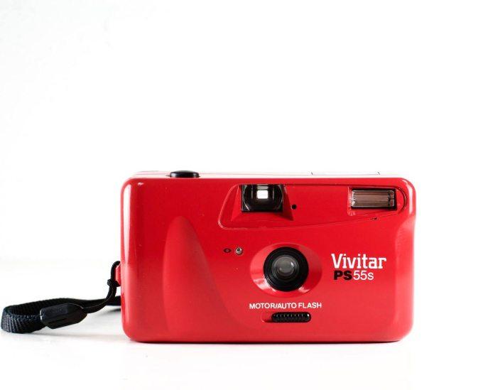 Red Vivitar PS55s 35mm Film Camera
