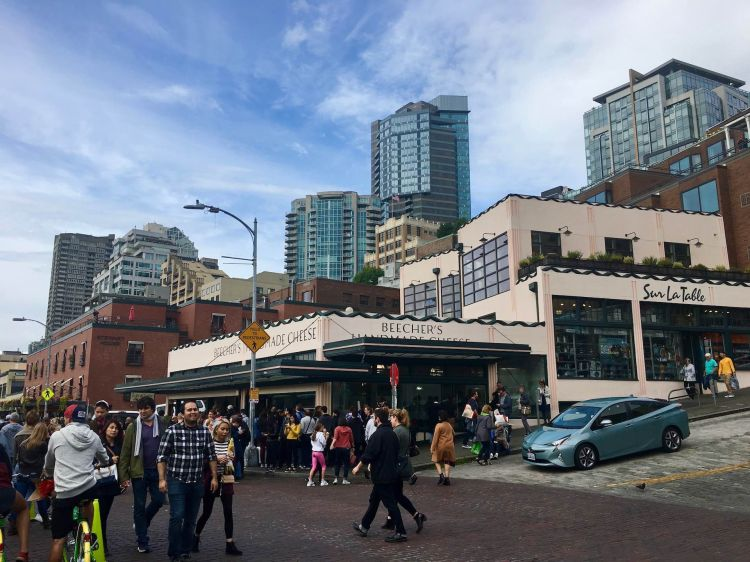 Beecher's Cheese across from Seattle's Pike Place Market