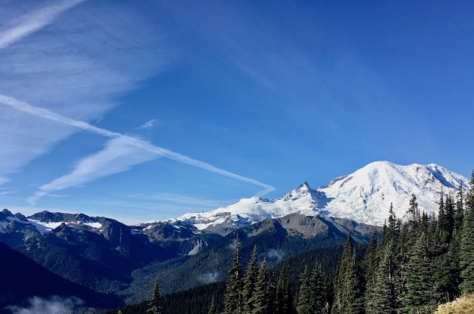 Mount Rainier from Sunrise Point in National Park