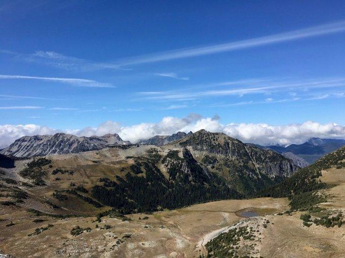 Looking back toward Frozen Lake Mount Rainier National Park