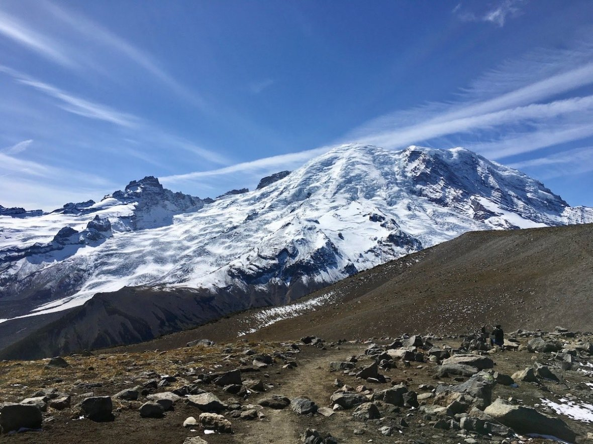 Mount Rainier view from First Burroughs