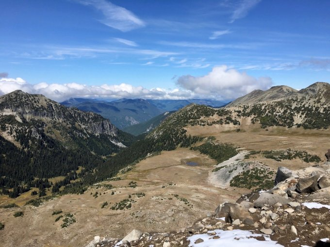 Views from Second Burroughs Trail in Mount Rainier National Park