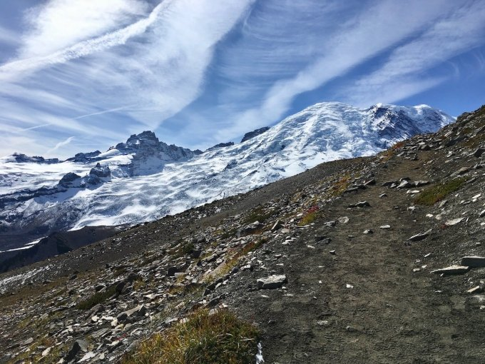 Closing in on Second Burroughs in Mount Rainier National Park