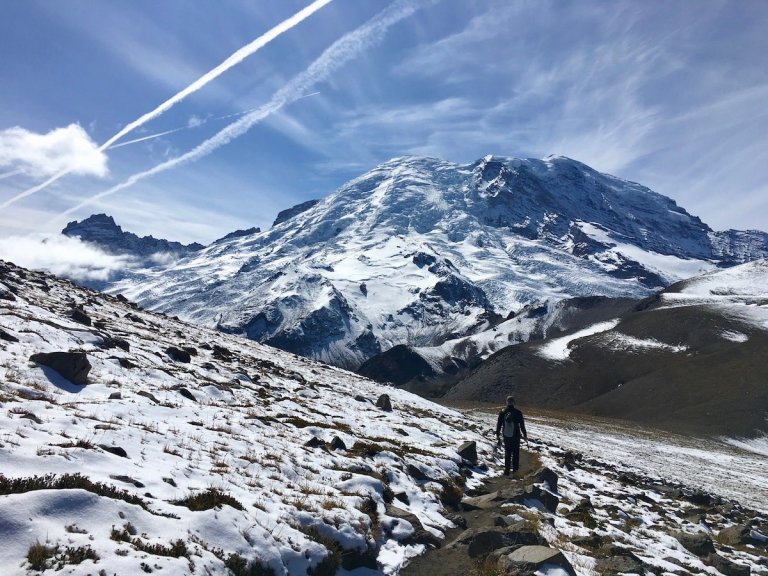 Trail between Second and Third Burroughs in Mount Rainier National Park
