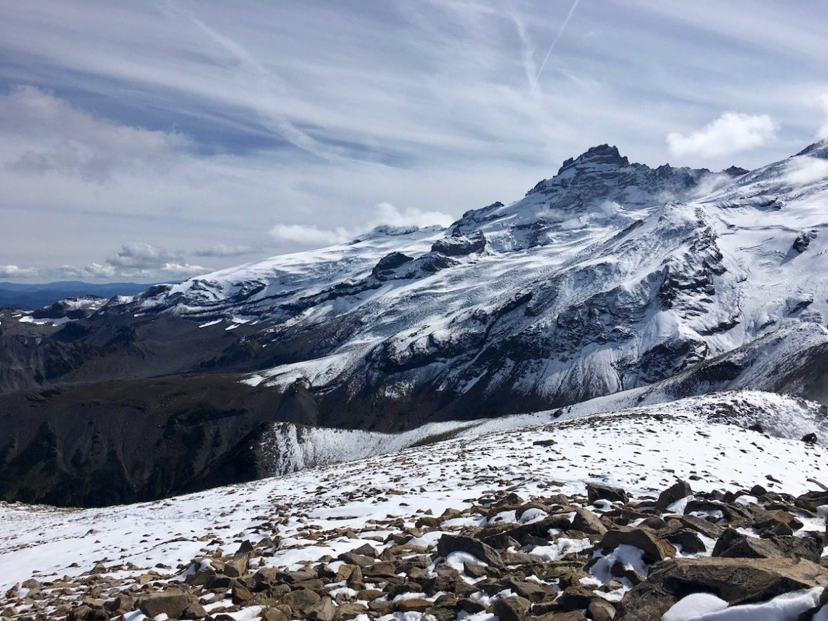 Little Tahoma Peak & Frying Pan Glacier viewed from Third Burroughs in Mount Rainier National Park