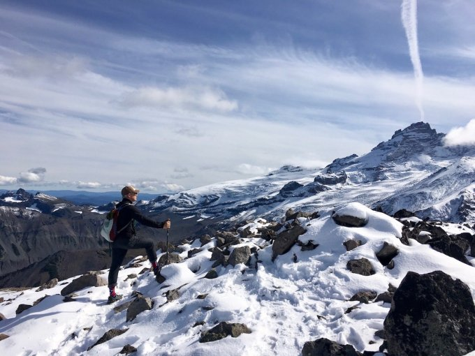 Atop Third Burroughs with Little Tahoma Peak and Frying Pan Glacier in the background, Mount Rainier National Park