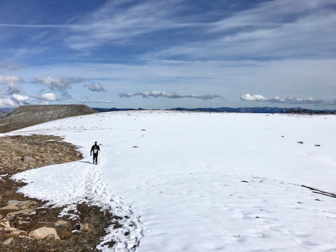 Snowfield between Third and Second Burroughs