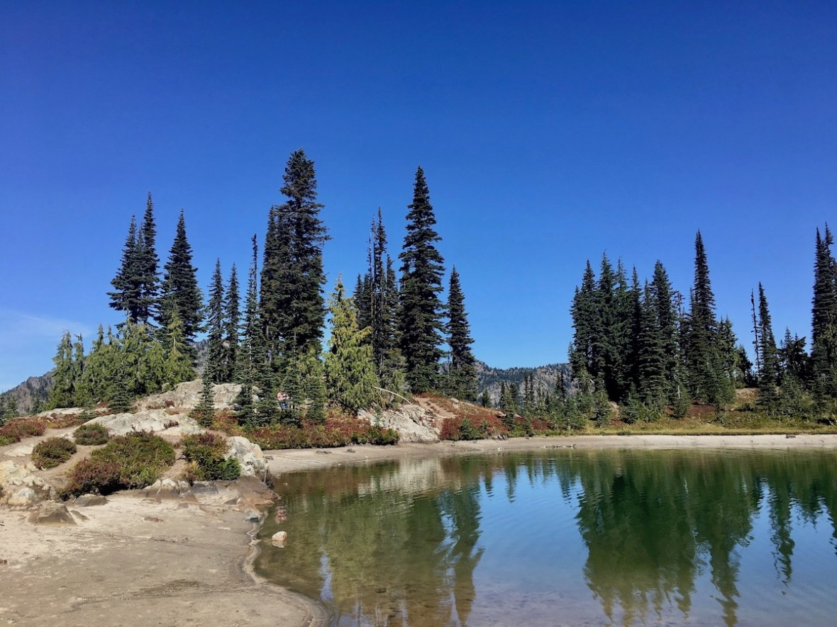 Unnamed glacial pond just off the Naches Peak loop trail in Okanogan-Wenatchee National Forest