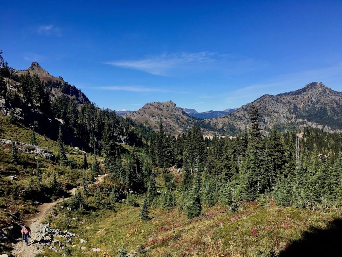 Looking Westward down the Naches Peak loop trail in Okanogan-Wenatchee National Forest