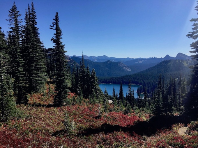 Dewey Lake, 600 feet elevation below the Naches Peak loop trail