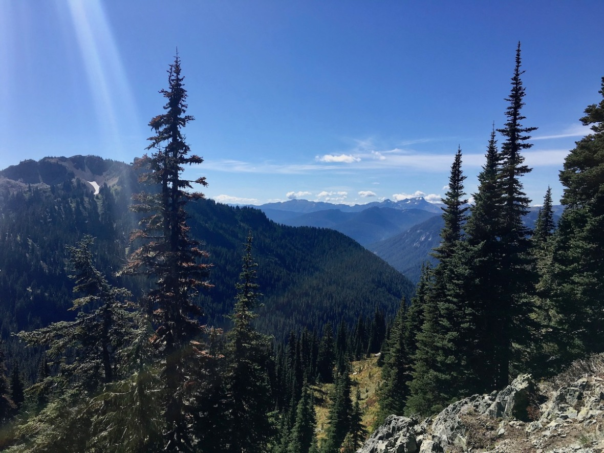 Looking to the southwest from the Naches Peak loop trail