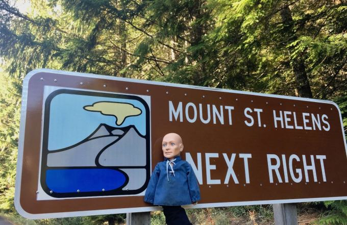 Hugo at Mount St. Helens National Volcanic Monument