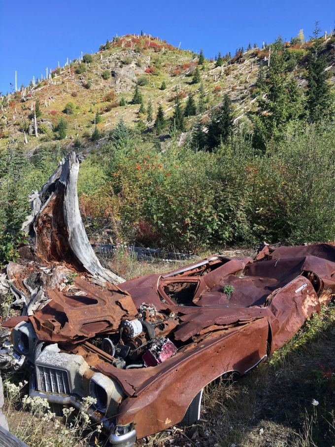 Crushed Car at Mount St. Helens National Monument