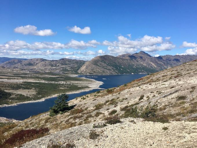 View of Spirit Lake from Windy Ridge at Mount St. Helens National Volcanic Monument