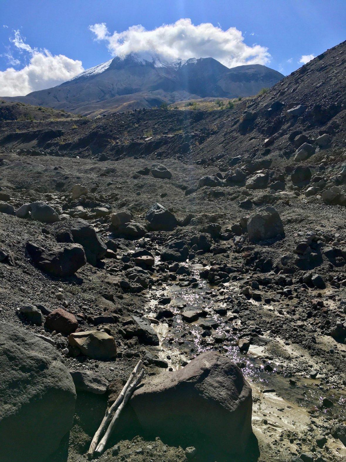 Stream running through Mount St. Helens National Volcanic Monument