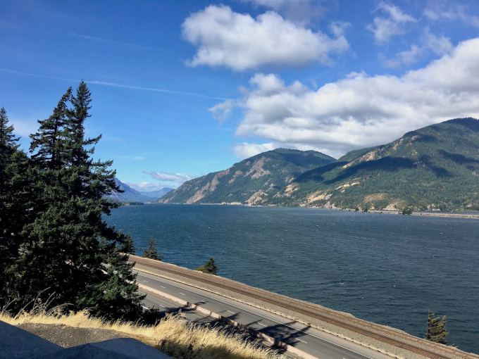 Columbia River Gorge between Cascade Locks and Hood River, Oregon