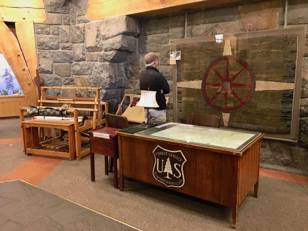 Interior of Timberline Lodge on Mt. Hood, Oregon