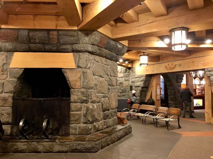 Interior of Timberline Lodge on Mt. Hood, Oregon