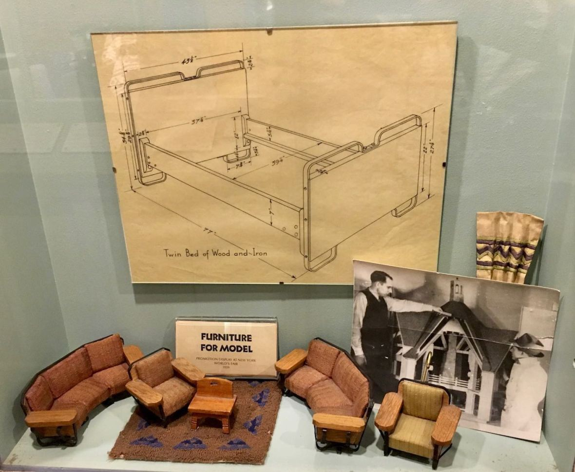Furniture Drawings and Models for Timberline Lodge in Mt. Hood, Oregon