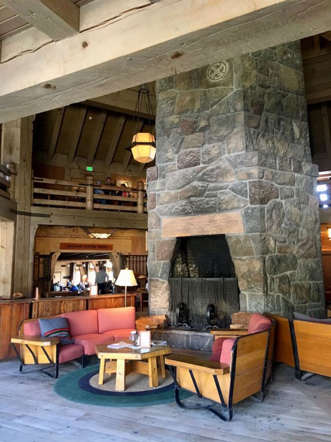 Interior of Timberline Lodge in Mt. Hood, Oregon