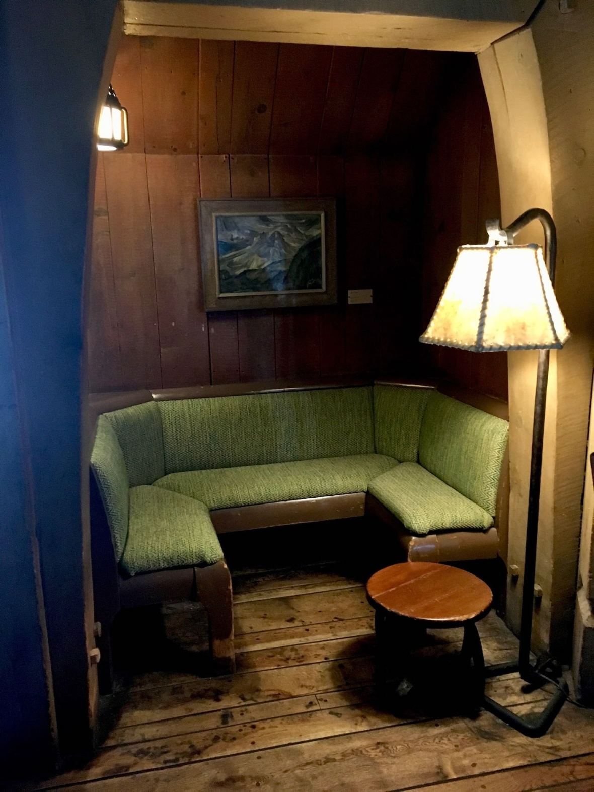 Cozy conversation areas at Timberline Lodge in Mt. Hood, Oregon