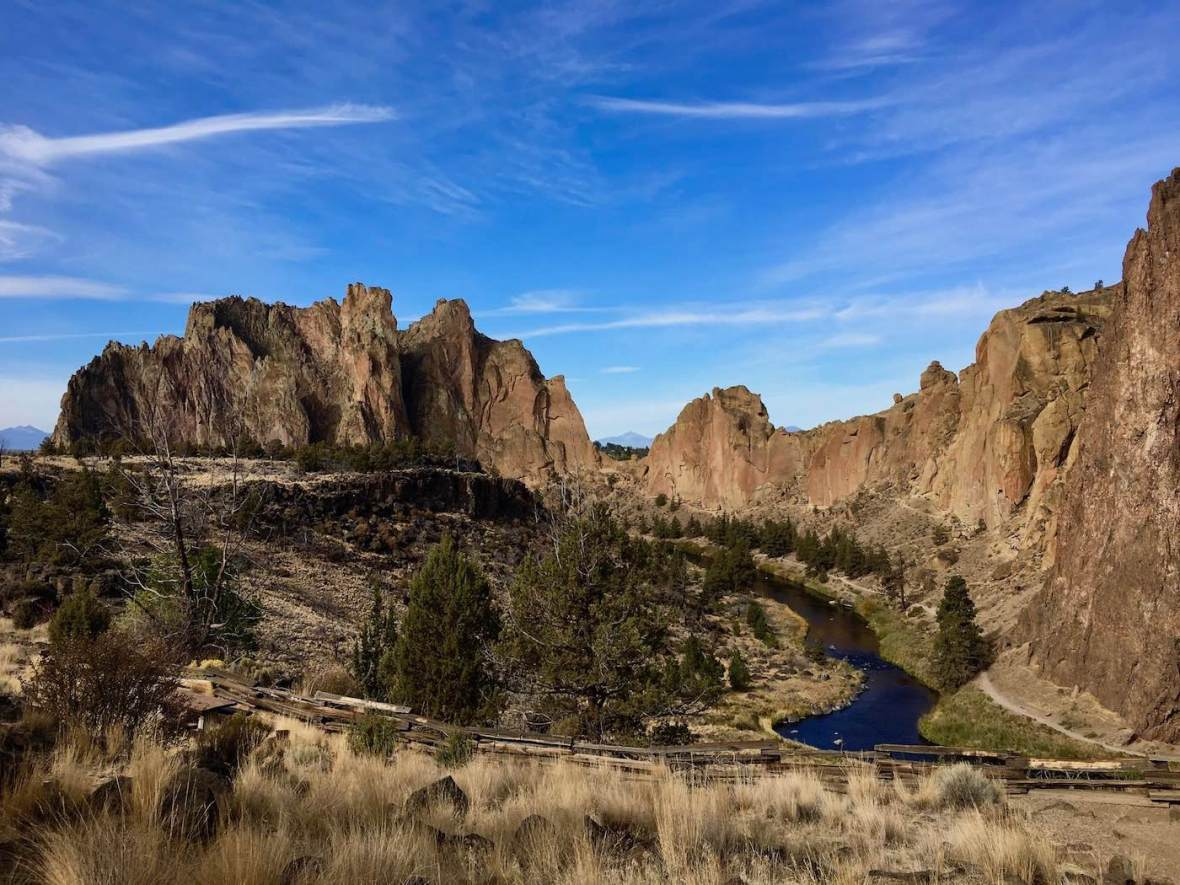Overlooking Oregon's Smith Rock State Park