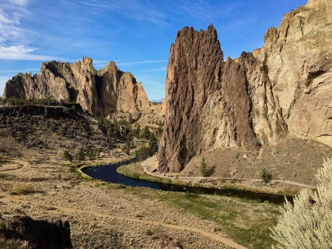 Overlooking the Crooked River in Smith Rock State Park, Oregon
