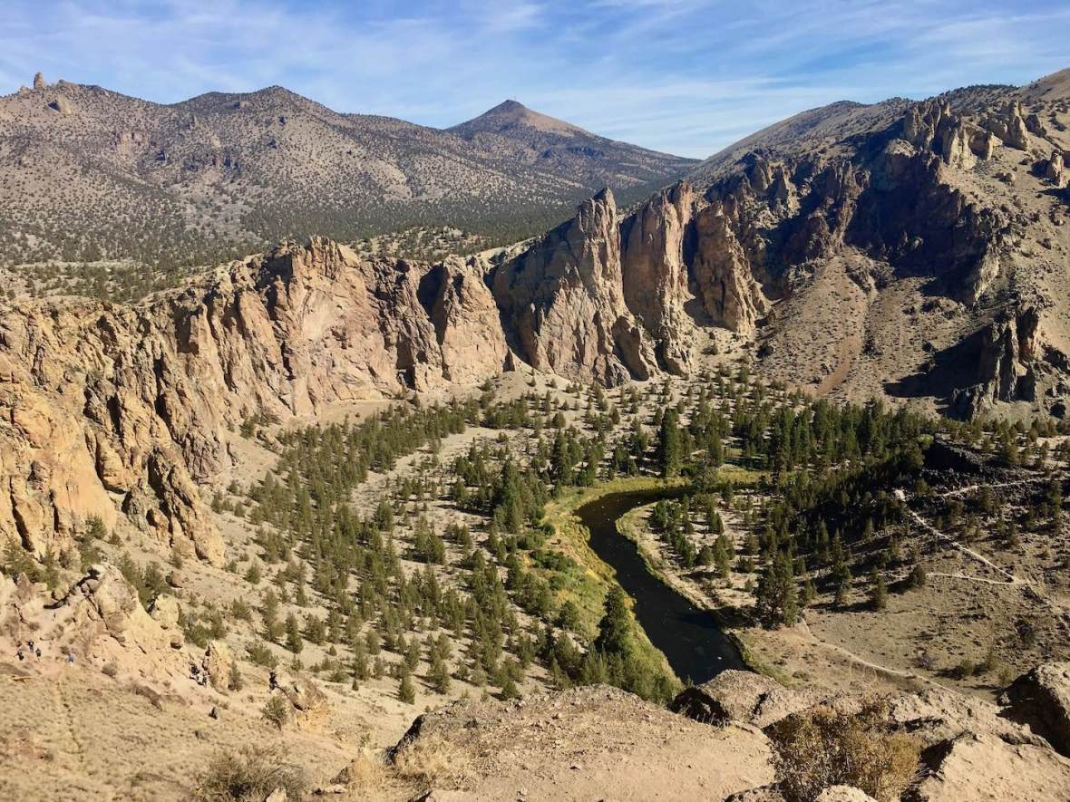 Overlooking the Crooked River from the Misery Ridge Trail in Smith Rock State Park, Oregon